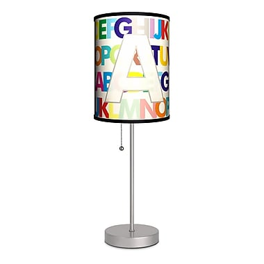 Lamp-In-A-Box Monograms Modern Letter 20'' Table Lamp; A