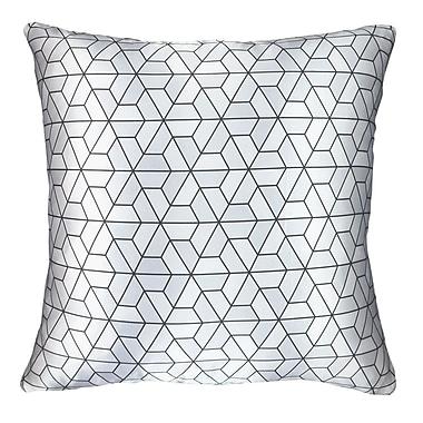NECTARmodern Modern Printed Satin Throw Pillow