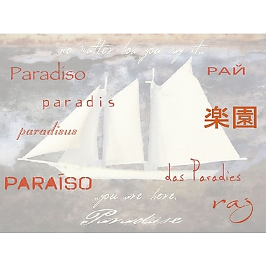 Graffitee Studios Coastal Paradise Here Graphic Art on Wrapped Canvas