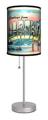 Lamp-In-A-Box Travel Alaska Postcard 20'' Table Lamp