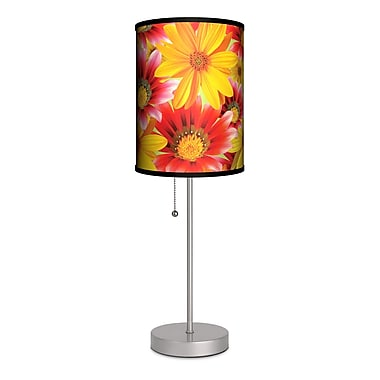 Lamp-In-A-Box Decor Art Big Flowers 20'' Table Lamp