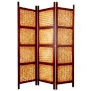 Oriental Furniture 72'' x 52.5'' Amakan 3 Panel Room Divider