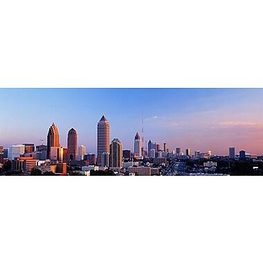 iCanvas Panoramic Twilight, Skyline, Atlanta, Georgia Photographic Print on Wrapped Canvas