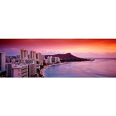 iCanvas Panoramic Sunset Honolulu Oahu, Hawaii Photographic Print on Wrapped Canvas