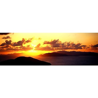 iCanvas Panoramic Sunset Virgin Gorda British Virgin Islands Photographic Print on Wrapped Canvas