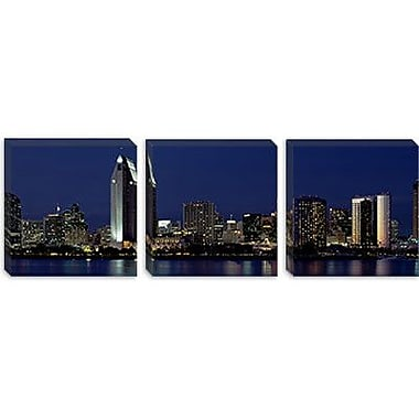iCanvas Panoramic Skyscrapers in a City, San Diego, California Photographic Print on Canvas