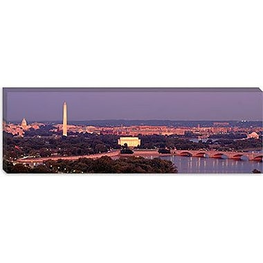iCanvas Panoramic Washington, D.C, Aerial, Night Photographic Print on Wrapped Canvas