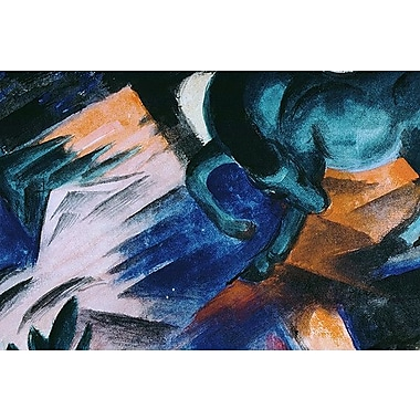iCanvas 'The Green Horse' by Franz Marc Painting Print on Wrapped Canvas; 8'' H x 12'' W x 0.75'' D