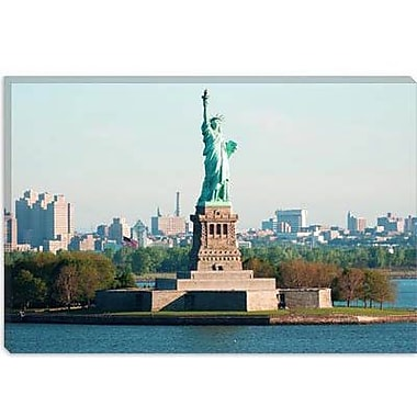 iCanvas Political Statue of Liberty Photographic Print on Wrapped Canvas in Blue