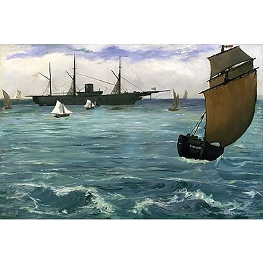 iCanvas 'The Kearsarge at Boulogne' by Edouard Manet Painting Print on Wrapped Canvas