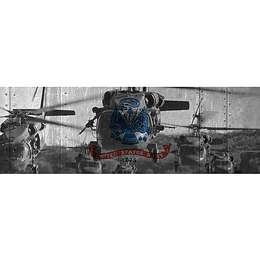 iCanvas Flags Army Blackhawk-Helicopter Graphic Art on Wrapped Canvas; 16'' H x 48'' W x 1.5'' D