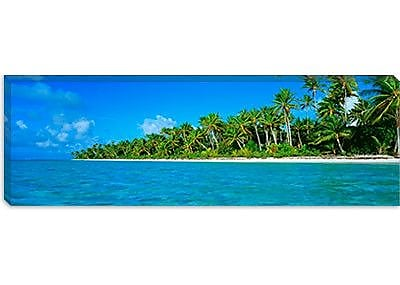 iCanvas Panoramic Tetiaroa Atoll French Polynesia Tahiti Photographic Print on Wrapped Canvas