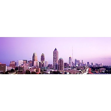 iCanvas Panoramic Twilight, Atlanta, Georgia Photographic Print on Wrapped Canvas