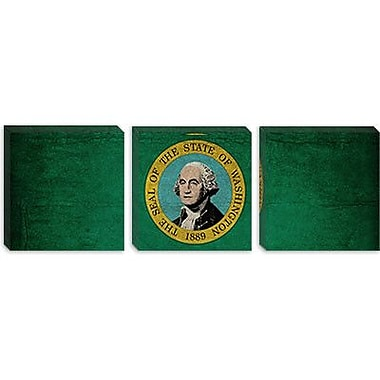 iCanvas Flags Washington Cracks Panoramic Graphic Art on Wrapped Canvas; 16'' H x 48'' W x 1.5'' D