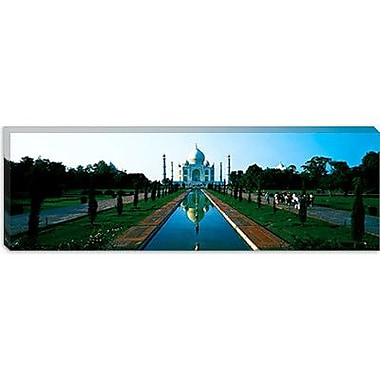 iCanvas Panoramic Taj Mahal Agra India Photographic Print on Canvas; 12'' H x 36'' W x 0.75'' D