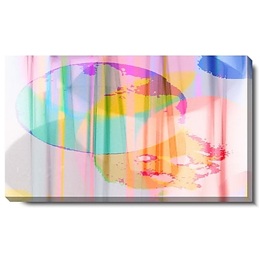 Studio Works Modern ''Flat Earth Theory'' by Zhee Singer Graphic Art on Wrapped Canvas