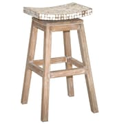 Jeffan Cordova 30'' Swivel Bar Stool; White Wash