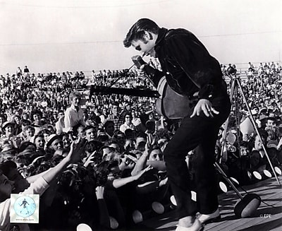 Evive Designs Elvis Presley on Stage w/ Fans (#1) Photographic Print