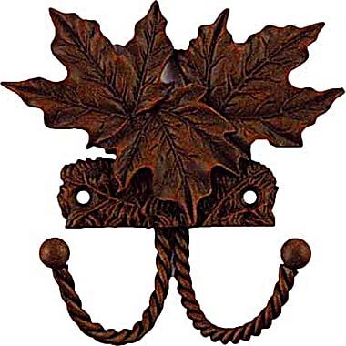 Sierra Lifestyles Decorative Wall Mounted Maple Leaf Hook; Rust