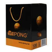 Joola iPong Table Tennis Ball Set (100 Count, 2-Star Quality) - Orange (Set of 100)