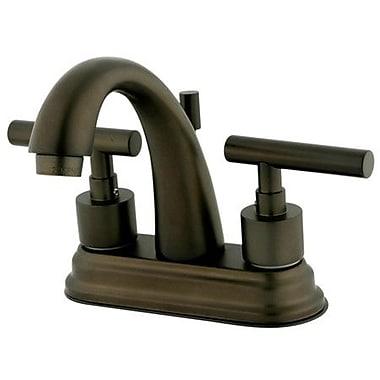 Kingston Brass Manhattan Double Handle Centerset Bathroom Faucet w/ Brass Pop-up; Oil Rubbed Bronze