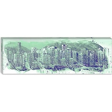 iCanvas Vancouver, Canada Skyline Panoramic Graphic Art on Canvas; 12'' H x 36'' W x 0.75'' D