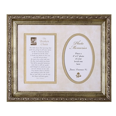 The James Lawrence Company Broken Chain Framed Textual Art