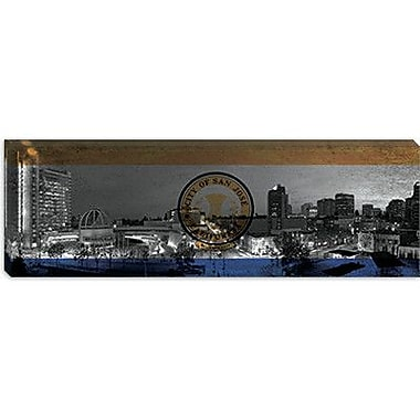 iCanvas Flags San Jose Cityscape Panoramic Graphic Art on Canvas; 16'' H x 48'' W x 1.5'' D