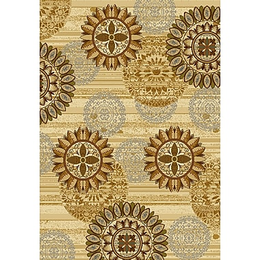 United Weavers of America Affinity Sundial Ivory/Gold Area Rug; 7'10'' x 10'6''