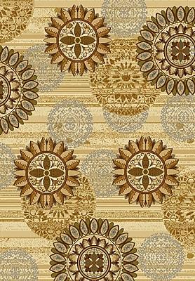 United Weavers of America Affinity Sundial Ivory/Gold Area Rug; Runner 1'11'' x 7'2''