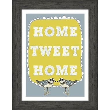 Evive Designs Home Tweet Home by Felt Mountain Studios Framed Graphic Art