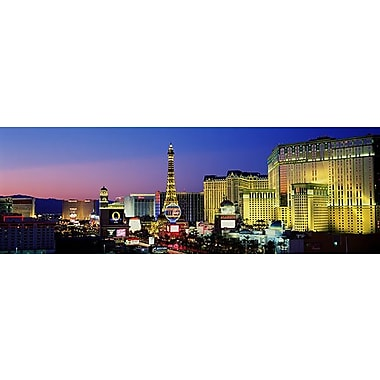 iCanvas Panoramic The Strip Dusk Las Vegas Nevada Photographic Print on Wrapped Canvas
