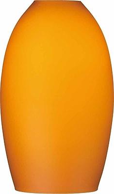 Volume Lighting 5'' Glass Oval Pendant Shade; Amber