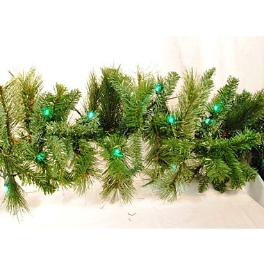 Queens of Christmas Blended Pine Garland; Green