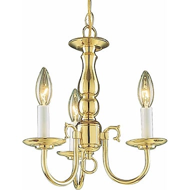 Volume Lighting 3-Light Candle-Style Chandelier