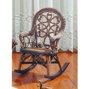 Yesteryear Victorian Child's Cotton Rocking Chair; Brownwash