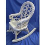 Yesteryear Victorian Child's Cotton Rocking Chair; Whitewash