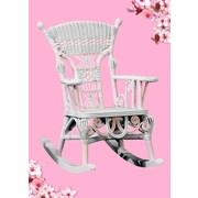 Yesteryear Victorian Millie Child's Cotton Rocking Chair; Pink / White