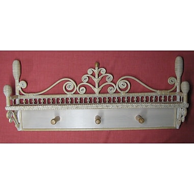 Yesteryear Victorian Coat Rack; Whitewash