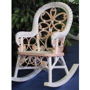 Yesteryear Victorian Child's Cotton Rocking Chair; Pink / White