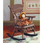 Yesteryear Victorian Millie Child's Cotton Rocking Chair; Brownwash