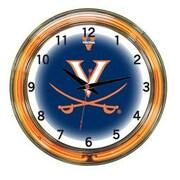 Wave 7 NCAA 18'' Team Neon Wall Clock; Virginia