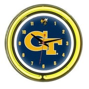 Wave 7 NCAA 14'' Team Neon Wall Clock; Georgia Tech