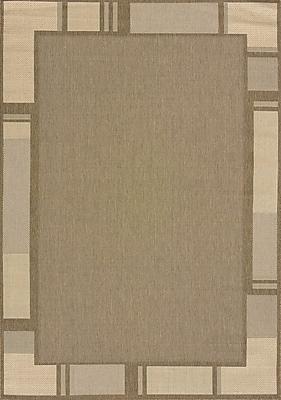 United Weavers of America Solarium Brown Terrace Indoor/Outdoor Rug; 5'3'' x 7'6''