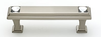 Alno Geometric 3'' Center Bar Pull; Satin Nickel