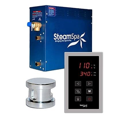 Steam Spa SteamSpa Oasis 7.5 KW QuickStart Steam Bath Generator Package in Polished Chrome