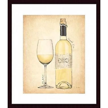 Printfinders 'Grand Cru Blanc' by Emily Adams Framed Graphic Art