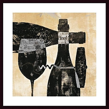 Printfinders 'Wine Selection I' by Daphne Brissonnet Framed Graphic Art