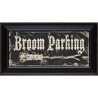 Artistic Reflections Broom Parking by Marrott, Stephanie Framed Textual Art