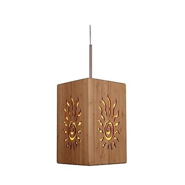 Woodbridge Light House 1-Light Mini Pendant; Classic brass
